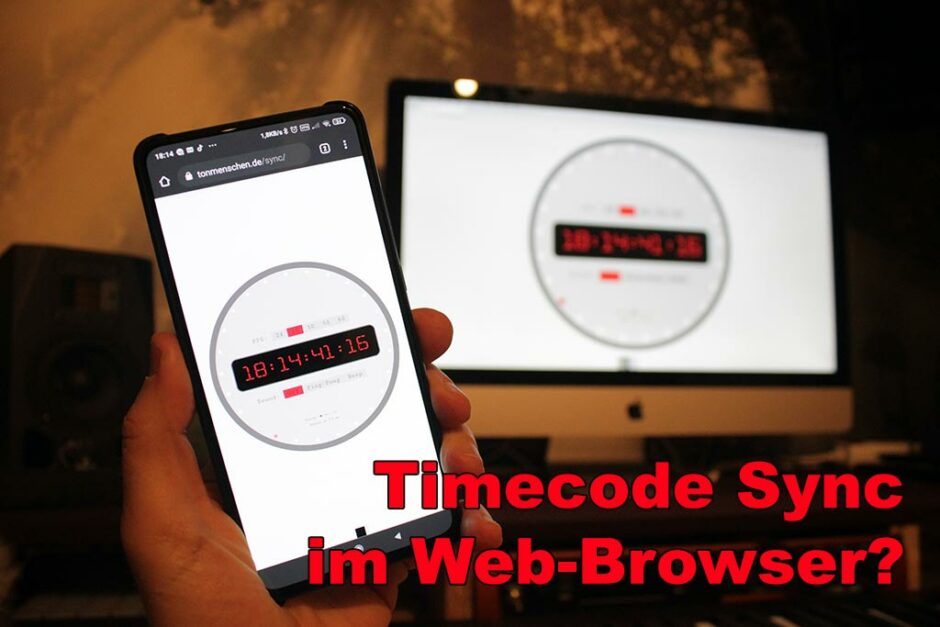 Timecode Sync im Web-Browser